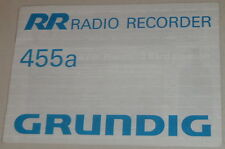 Manuale di istruzioni/operating instructions GRUNDING AUTORADIO 455a