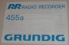 Manual de instrucciones/operating instructions Grunding autorradio 455a