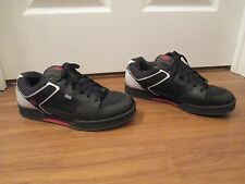 Used Worn Size 13 DVS Transom Skateboard Shoes Black White Red