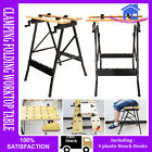 NEW FOLDABLE WORKBENCH PORTABLE WOOD BENCH WORK CLAMPING FOLDING WORKTOP TABLE**