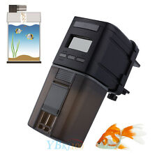 New Automatic Auto Fish Tank Pond Digital LCD Fish Food Feeder Feeding Timer SS