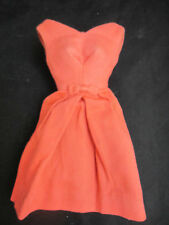 Early 1960s Barbie orange cotton Campus Belle fashion pak bow dress b&w tag