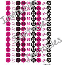 """Dirty 30 Birthday  Candy labels - 108 labels 3/4"""" round"""