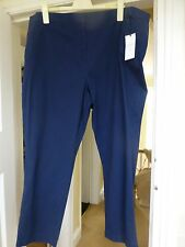 BNWT MARKS & SPENCER CLASSIC MEDIUM NAVY STRAIGHT LEG TROUSERS SIZE 24 MEDIUM