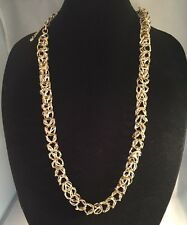 Ann Taylor Loft Chunky Silver Ring Chain Necklace 32-36""