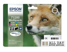 Epson Durabrite T1285 Fox Genuine Multipack Ink Cartridges T1281,282,283,284