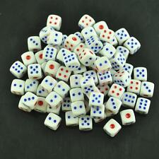 50 X White Dice Wholesale Lot Bulk 11mm D6 Gaming Set Six Sided Die Small