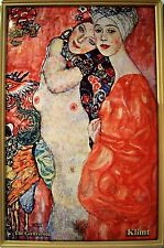 The Girlfriends von Klimt Metal Tin Plate Sign Tin Sign 7 9/10x11 4/5in