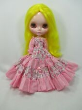 Blythe Outfit Handcrafted long sleeve dress basaak doll # 790-84