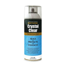 x10 Rust-Oleum Crystal Clear Multi-Purpose Spray Paint Lacquer Coat Semi-Gloss
