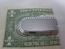New Colibri Silver Punched Engravable Money Clip