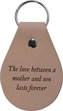 The love between a mother and son lasts forever - Leather Key Chain - Made in US