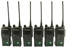 MOTOROLA GP320 UHF 4 WATT WALKIE-TALKIE TWO WAY RADIOS & COVERT EARPIECES x 6
