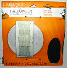 Halloween Freaky Fabric Spider Web Stuff Celebrate It Big as your front Door 48J