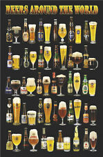 DRINKING POSTER Beers Around The World