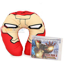 Marvel Iron Man Neck Rest Pillow Travel Cushion Car Airplane Accesory with Note