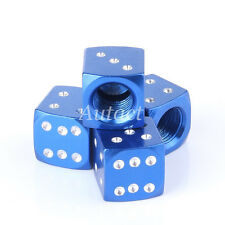 4x Dice Style Wheel Tyre Valve Stems Caps Metal Air Dust Covers For Focus