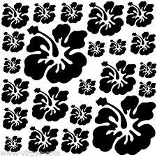 Sticker Planche Fleurs d'Hibiscus 20x20cm à 30x30cm, 14 coloris (FLEUR019)