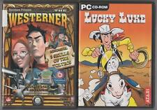 Lucky Luke + The Westerner + BONUS GIOCO 3 SKULLS of the toltecs PC COLLEZIONE