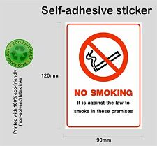 NO SMOKING on these premises #1 sticker - Self-adhesive bus car taxi PRNT1007