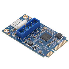 mPCIe to 19pin Header USB3.0 Card Mini PCIe to Dual USB3.0 Expansion Card New