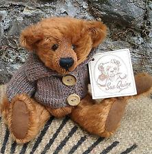 British artist SUE QUINN 'Little Brown Bear', Ltd. Ed. mohair teddy bear, tags