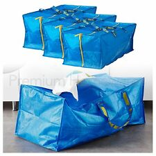 3 x IKEA FRAKTA Large Blue Zipped Trunk Storage Bags 76L