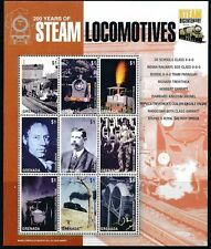 Railways, Trains, 200 yrs of Steam Locomotives, India, Grenada 2004 MNH 9v  -R16