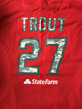 Angels Mike Trout Camo T-Shirt New Never Worn SGA 5-15-14 Adult XL BLOWOUT!!!