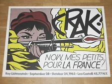 "ROY LICHTENSTEIN POSTER "" CRAK ! "" POP ART NYC CASTELLI EXHIBITION in MINT"