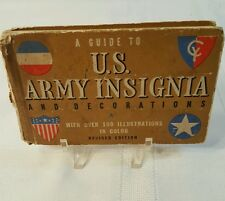 A Guide To U.S. Army Insignia and Decorations Book 1942 Edition - Whitman 62pgs
