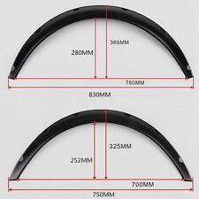 4 Piece Black Fender Flares Flexible Yet Durable Polyurethane For Car SUV Truck