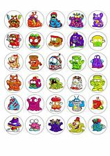 30 Trash Pack Edible Rice Wafer Cup Cake cupcake toppers