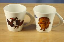 Set of 2 Sydney Australia 2000 Olympics Mascot Olly Millie White Coffee Mug Cup