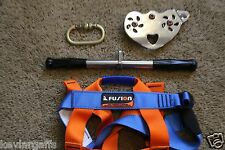 Stainless Zipline Trolley Handle Bars +Child Harness + Carabineer Zip Line Parts