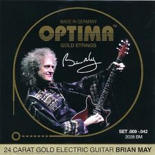 OPTIMA Gold Electric Guitar Strings | Brian May Custom Set | 009 - 042 | 2028 BM