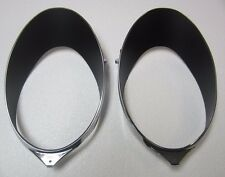 68/77 corvette speedometer/tachometer chrome gauge bezels 2 NEW!! 69 70 71 72 75