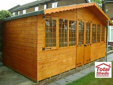 16 x 10 SUPREME SUMMER HOUSE LOG CABIN OFFICE BAR SHED TOP QUALITY GRADED TIMBER