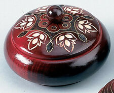 Polish Handmade Wooden ROUND BOX Linden Wood Keepsake Jewelry Box
