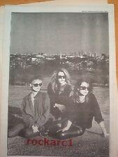 BANANARAMA 1984 LARGE newsprint POSTER/ Pin Up 16x12 inches