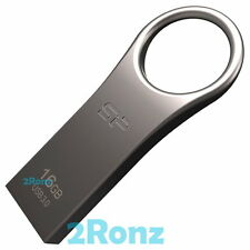 Silicon Power Jewel J80 16GB 16G USB 3.0 Flash Drive Disk Metal Keyring Titanium
