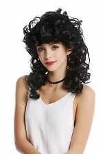 Wig Ladies Carnival long curly backcombs black Greek Goddess Antiquity