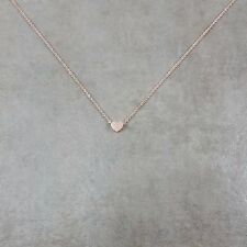 Rose Gold Plated Tiny Heart Necklace Gift Box Dainty Love Womens Jewelry