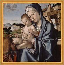 The Virgin and Child with a Saint Bartolomeo Montagna Heilige Maria B A2 00801