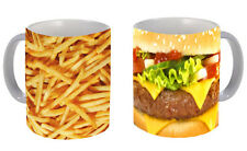 Burger N Fries Printed mug pair Couple Valentines Gift Cute Vintage Funny