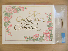 NEW Carlton Cards A Confirmation Celebration 8 Invitation Cards & Envelopes