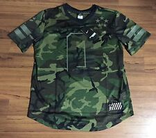 Nike Dri Fit Field General Blank Camo Black Football Jersey #0 Men's Sz XL $150