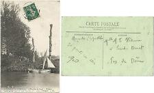 CPA postcard rivière Pêcheurs ETAVAUX St André sur Orne →  Caen 14 Calvados 910R