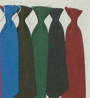 BOYS  TIE TIES, WITH ELASTIC LOTS OF COLOURS BRAND NEW 6 MONTHS - 6YEARS