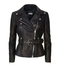 Women Lamb Leather Biker Jacket Motorcycle Jacket